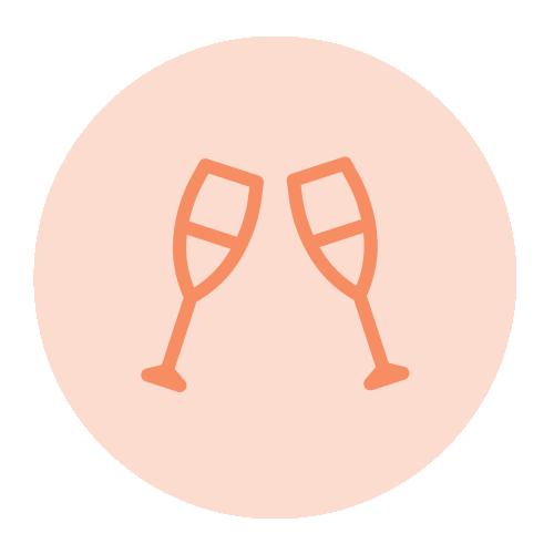 pictogramme coupes de champagne