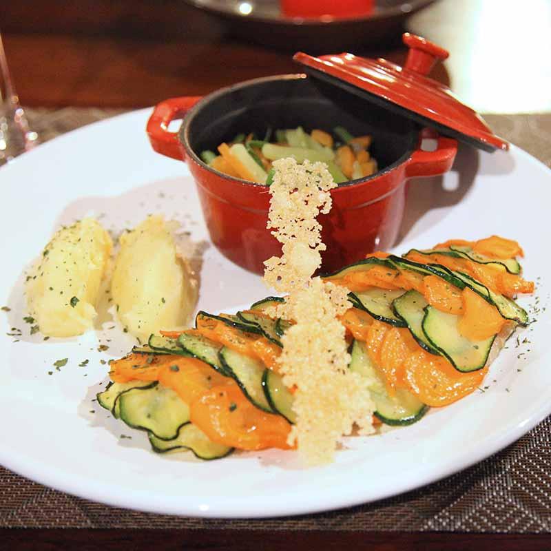 cocotte de légumes et purée