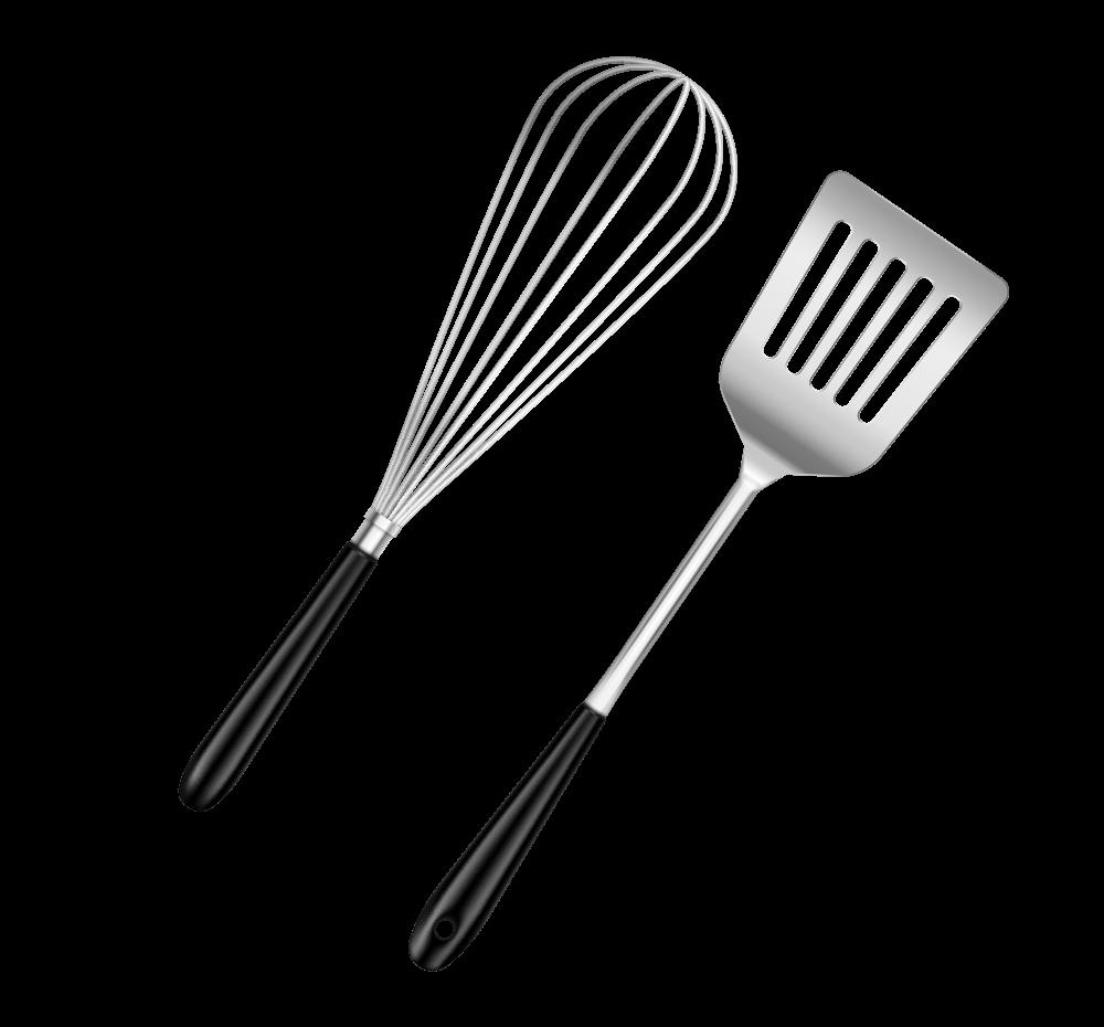 ustensiles de cuisine : fouet et spatule